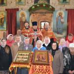Молебен перед началом реставрации в Селёвкино